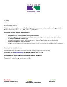 Summer Program Assistant 2014 CSJ copy