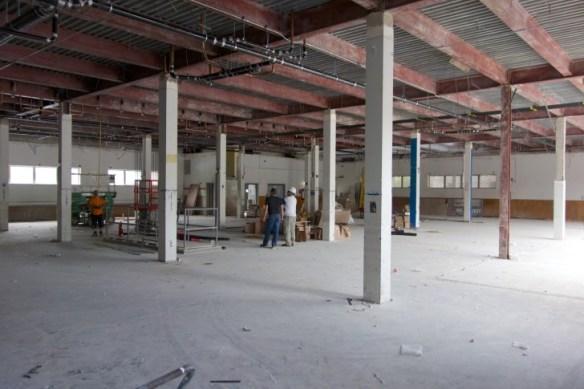 Work is in progress on the ground floor.