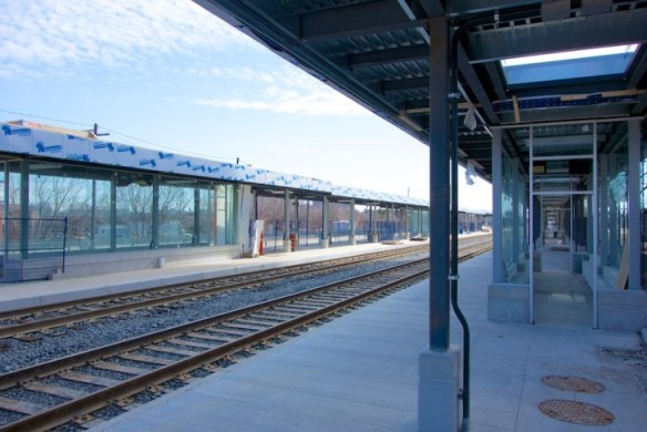 The new GO platforms and waiting areas.