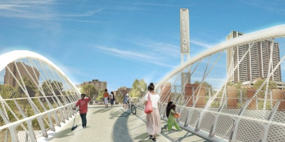 The John Street bridge deck - artist's impression.