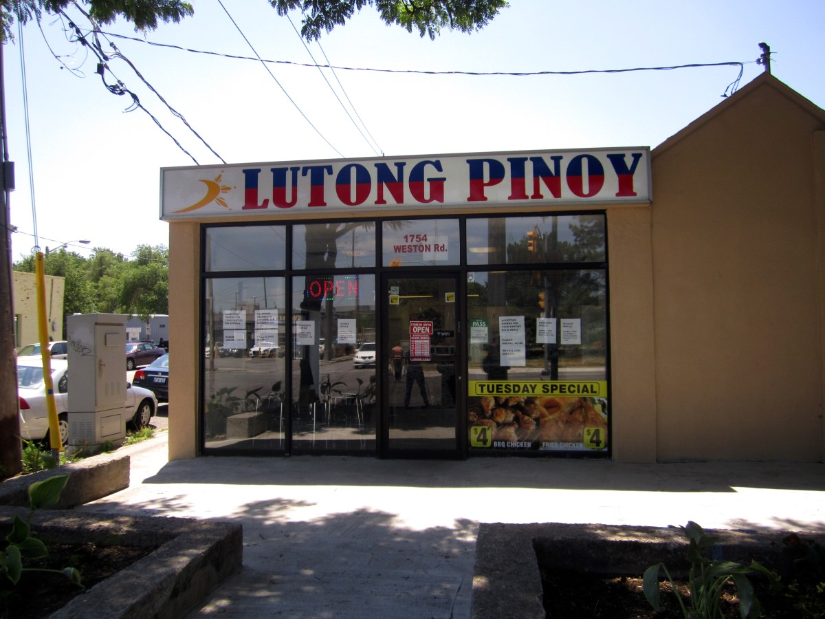 Lutong Pinoy restaurant view from the front.