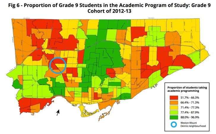 Map of applied courses