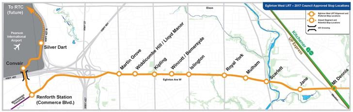 Eglinton West map