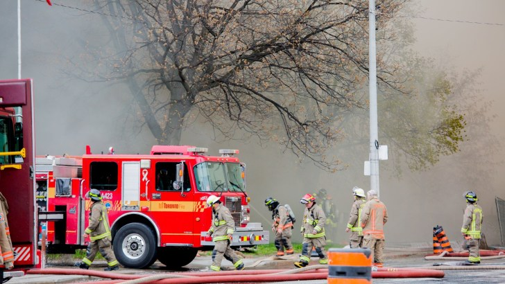 Firefighters battling York Memorial fire