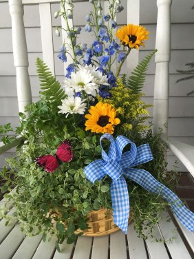 herb flower basket