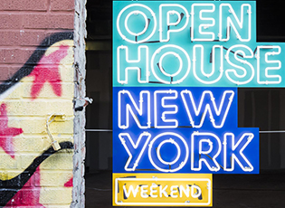 Open House New York 2016 Weekend Event Guide cover, Brooklyn NY, Client: Open House New York