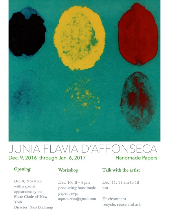 Junia Flavia D'Affonseca; Handmade papers< Dec. 9, 2016 -Jan. 6, 2017