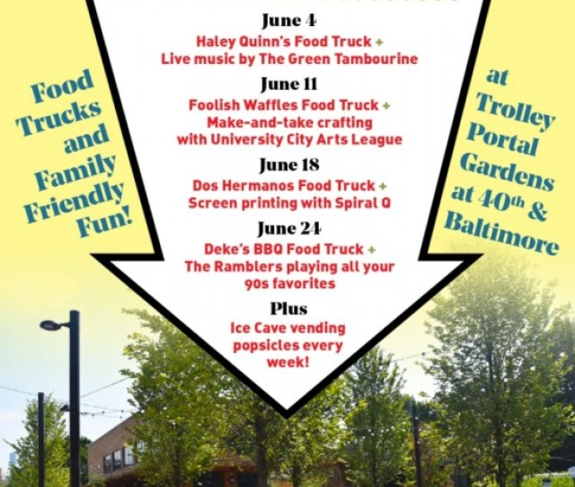 Beginning Tuesday June 4 University City District Will Be Holding Events At The Brand New Public Space Trolley Portal Gardens
