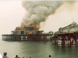 Fire in the Pavilion taken on 28th March 2003
