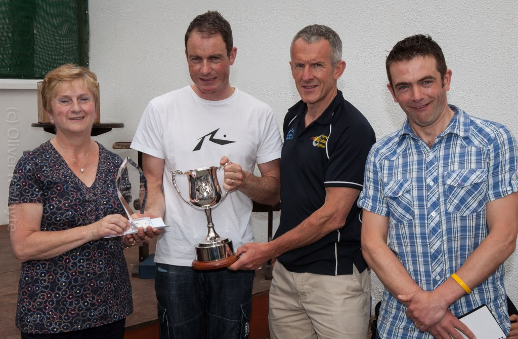 Colm being presented with the McNally Cup. Photo by Ollie Whyte.