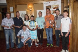 Prize winners on the night