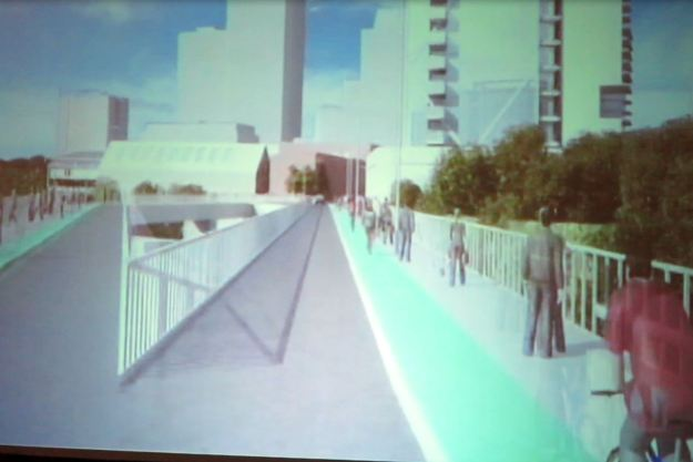 8 far side of the bridge bike lanes