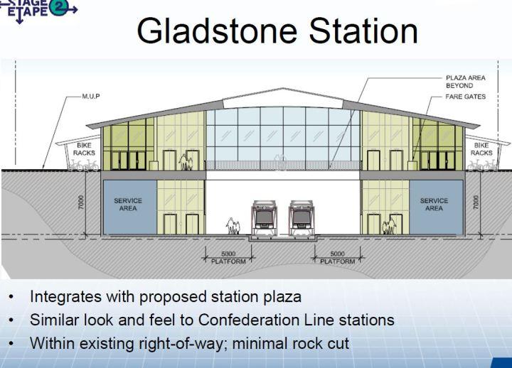 gladstone station cut thru plan