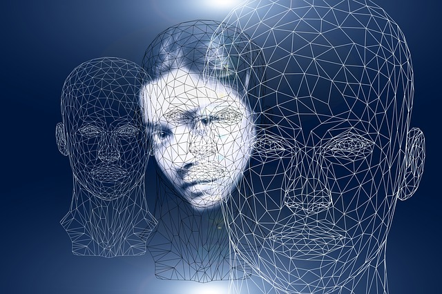 stock image showing abstract depictions of human heads