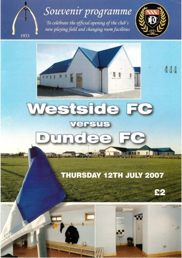 dundee programme - cover