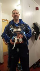 Assitant Manager Nibble with League Trophy 2014