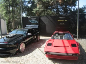 Cars from Knight Rider and Magnum P.I.
