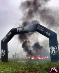 Finish line at the Spartan Race Super in Virginia (photo courtesy of Muddy Mommy)