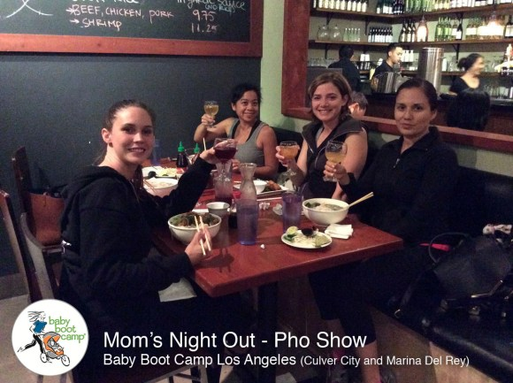 toasting to a Mom's Night Out with friends