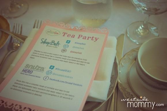 Club MomMe Tea Party Momfluencers Social Media Moms at the Culver Hotel for Snuza Hero and Sleep Belt