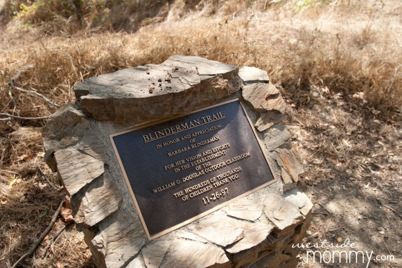 Blinderman Trail Plaque
