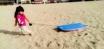 Sand Boarding (or Sledding) at Venice Beach