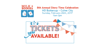 Get your tickets for Milk+Bookies 8th Annual Story Time Celebration – Feb. 26th in Culver City