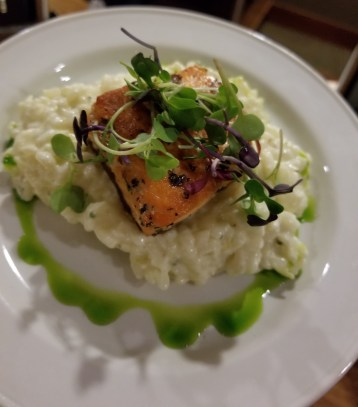 Salmon and lemon risotto