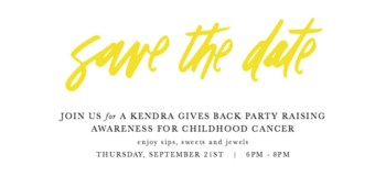 The Pablove Foundation + Kendra Scott host a Give Back Party September 21st