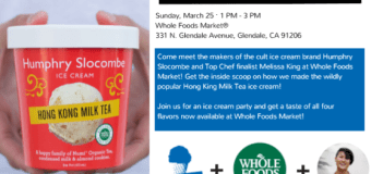 Humphry Slocombe Ice Cream and Top Chef finalist Chef Melissa King at Whole Foods Glendale Sunday March 25