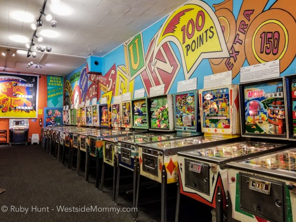 Pacific Pinball Museum vintage pinball games, located in Alameda, California. Photo by Ruby Hunt