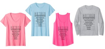 Great for any mother: Confident Mom brand T-shirts