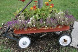 Quick Guide to Vegetable Container Gardening - wagon as container garden