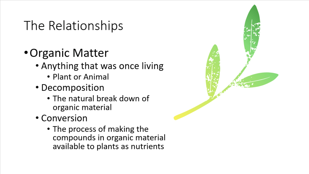 Building Healthy Soil - Organic Matter The Relationships