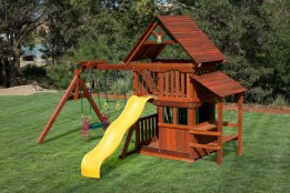 Wooden Swing set Playhouse The Woodlands TX