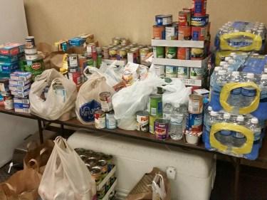 Food donated during VBS 2015 delivered to Impact Church of Christ