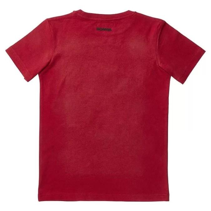 kids scania v8 tshirt back