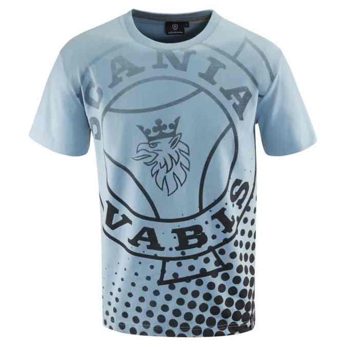Scania mens blue vabis tshirt front