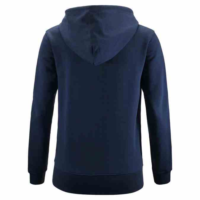 womens navy cropped griffin zip hoodie back