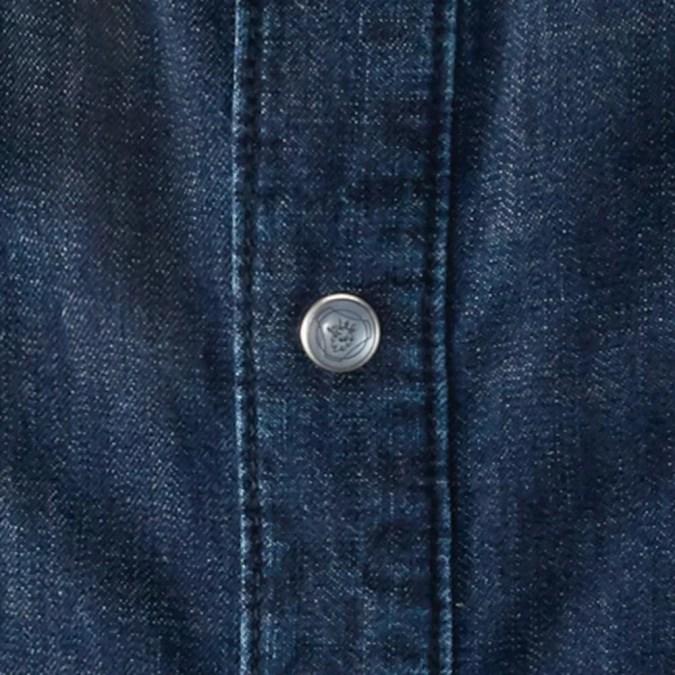 Scania mens denim close up button