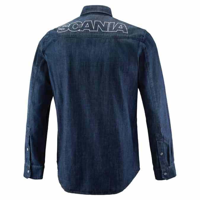 Scania mens denim shirt back