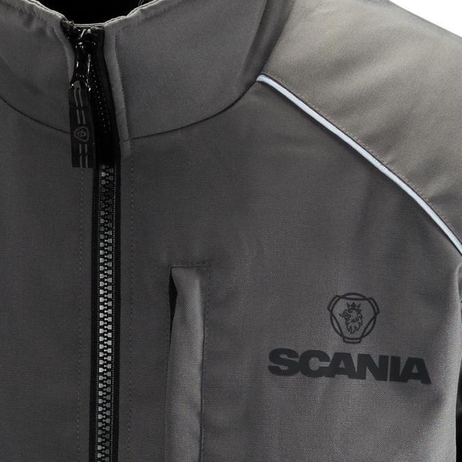 Scania Grey Truck Jacket close up