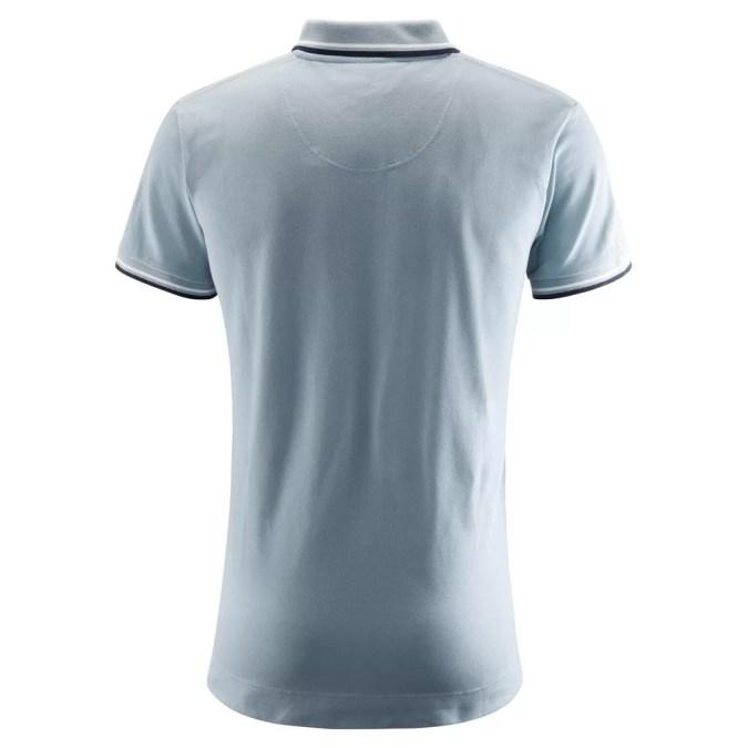 Mens blue polo back