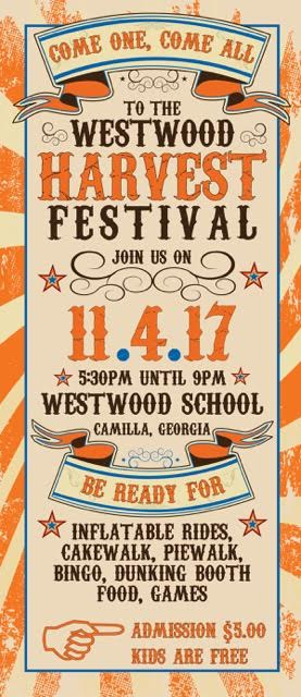 Westwood's Annual Fall Festival, Saturday, November 4th
