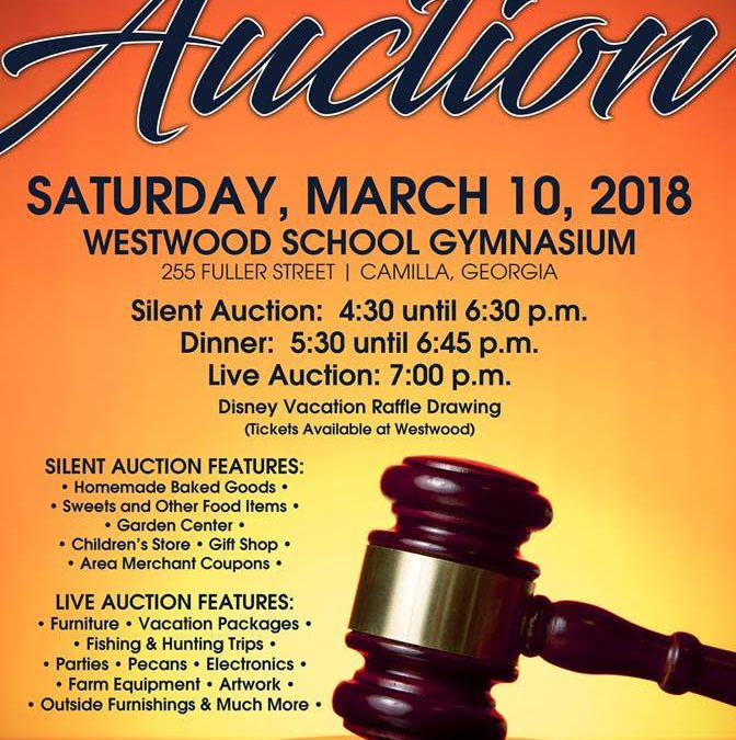 Annual Westwood Auction March 10th Sponsored by the Grandparent's Club