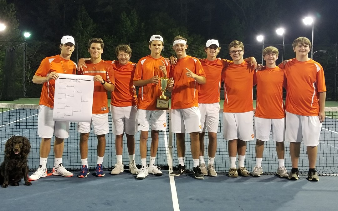 Boys Tennis Team AA State Champs for 3rd Straight Year