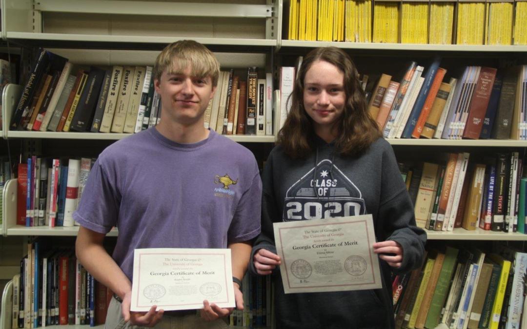 Students Receive Georgia Certificate of Merit Award
