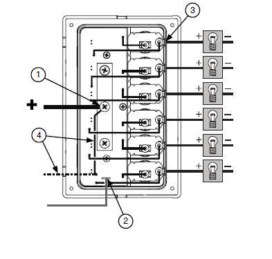 basic wiring of boat with blue sea systems  dedicated to