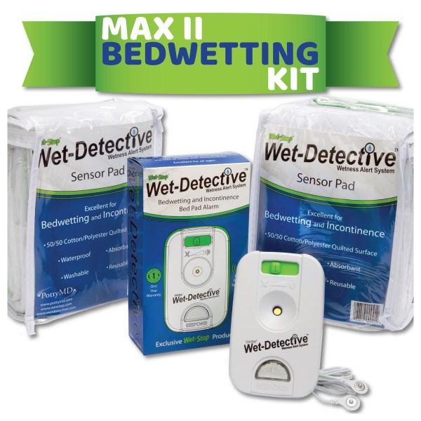 Wet-Detective Max II bed pad alarm kit - 2 pads