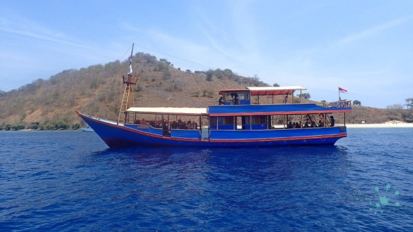 Boat Santai- first trip with guests into the waters of Komodo National Park